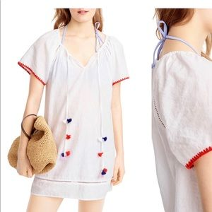 J. Crew linen & cotton embroidered cover up S